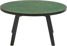 Mesa baja de jardín de mosaico verde