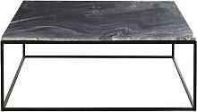Mesa baja de mármol negro