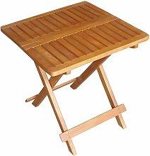 Mesa bistró exterior madera acacia aceitada