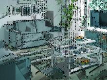Mesa Centro Elevable Colonial Moderno Provenza