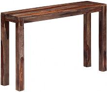 Mesa consola 120x30x76 cm madera maciza de