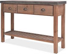 Mesa consola de madera de abetomaciza 122x35x80cm