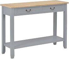 Mesa consola de madera gris 110x35x80 cm - Hommoo