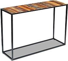 Mesa consola de madera maciza reciclada 110x35x76