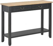 Mesa consola de madera negro 110x35x80cm Vida XL