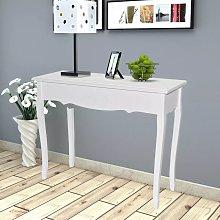 Mesa consola de tocador blanco - Hommoo