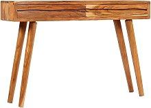 Mesa consola madera maciza acacia cajones tallados