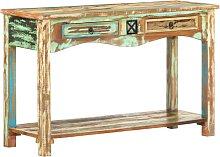 Mesa consola madera maciza reciclada 120x40x75 cm