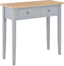 Mesa consola tocador de madera gris 79x30x74 cm -