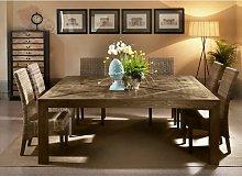 Mesa cuadrada de madera de olmo viejo cm