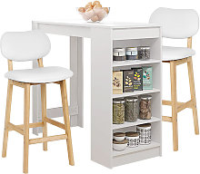 Mesa de bar con 2 sillas juego de comedor de