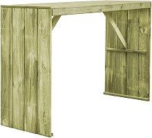 Mesa de bar de madera de pino impregnada