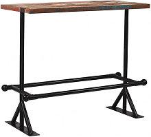 Mesa de bar de madera maciza recicladamulticolor