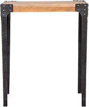 Mesa de bar rectangular diseño industrial madera