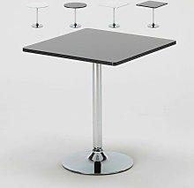 Mesa de bar redonda cuadrada negra blanca 70x70
