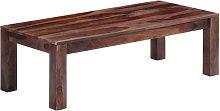 Mesa de centro 110x50x35 cm madera maciza de