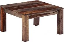 Mesa de centro 60x60x35 cm madera maciza de
