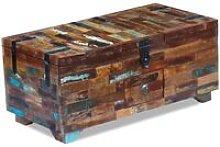 Mesa de centro cofre de madera maciza reciclada