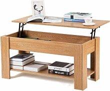 Mesa de centro con almacenamiento elevable, mesas