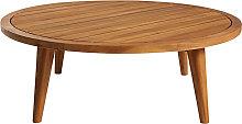Mesa de centro de jardín redonda de acacia maciza