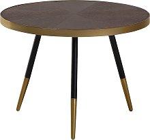 Mesa de centro de madera con patas en negro/dorado