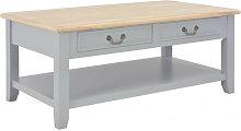 Mesa de centro de madera gris 100x55x40cm Vida XL
