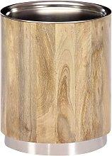 Mesa de centro de madera maciza de mango 38x45 cm
