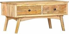 Mesa de centro de madera maciza de mango 82x52x42