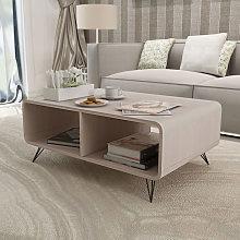 Mesa de centro de madera maciza Paulownia gris