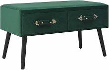 Mesa de Centro de Terciopelo 80x40x46 cm Verde -