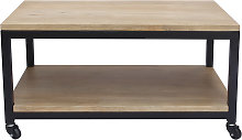 Mesa de centro industrial madera y metal FACTORY
