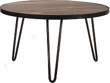 Mesa de centro redonda diseño industrial 80x45 cm