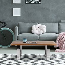 Mesa de centro salón madera acacia maciza marrón