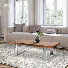 Mesa de centro salón madera acacia maciza pies