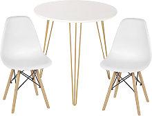 Mesa de comedor con 2 sillas juego de comedor de