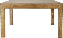 Mesa de comedor cuadrada de madera de maciza de