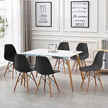 Mesa de comedor de diseño elegante 110x60x75cm