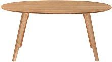 Mesa de comedor diseño escandinavo oval roble