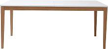 Mesa de comedor diseño extensible blanca patas