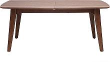 Mesa de comedor diseño extensible nogal L180-230