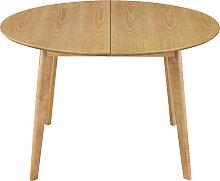 Mesa de comedor diseño redonda extensible roble