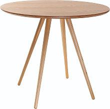Mesa de comedor diseño redondo fresno D90 ARTIK