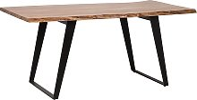 Mesa de comedor en madera clara 200x100 cm JAIPUR