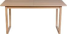 Mesa de comedor extensible chapado roble L160-240
