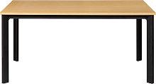 Mesa de comedor extensible chapado roble y metal