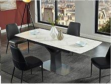Mesa de comedor extensible COLBY - 6 a 8