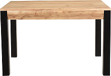 Mesa de comedor extensible en acacia maciza y