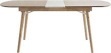 Mesa de comedor extensible en madera clara