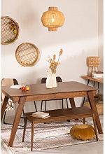 Mesa de Comedor Extensible en Nogal (150-180x90