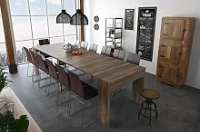 Mesa de comedor extensible hasta 301 cm en roble